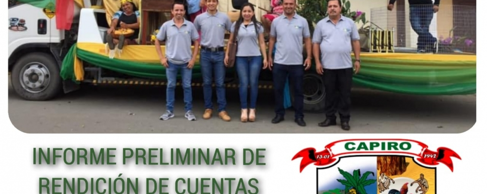 INFORME PRELIMINAR DE RENDICIÓN DE CUENTAS AÑO 2019.